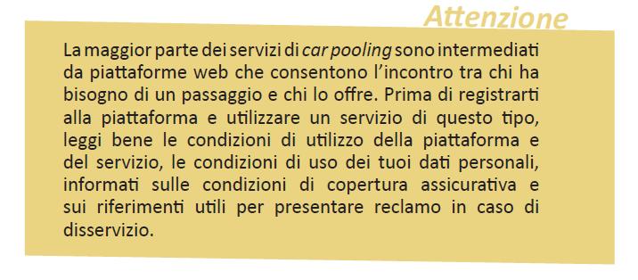 secondo passo mobilità sostenibile car pooling